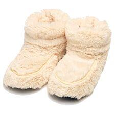 Warmies Microwavable Boots - Cream