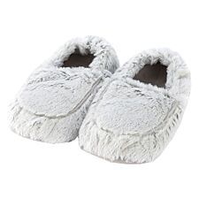 Warmies Microwavable Slippers - Marshmallow Grey