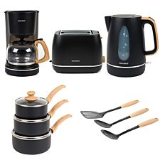 Progress COMBO-6801 Scandi Kitchen Essentials Set - Black