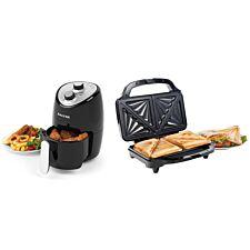 Salter COMBO-6803 XL Deep Fill Sandwich Toaster and Compact Hot Air Fryer Bundle - Black