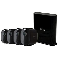 Arlo Pro 3 Wire-Free Security 4 Camera System - Black