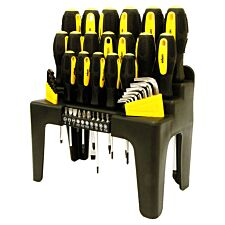 Rolson 44 Piece Screwdriver Hex Key and Bit Set