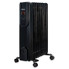 Zanussi 2kW Digital Oil Filled Radiator 9 Fins 3 Heat Settings Black