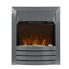 Zanussi 2kW Stainless Steel Electric Inset Fire