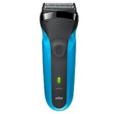 Braun BRA310 Series 3 Rechargeable Wet & Dry Electric Shaver – Black & Blue