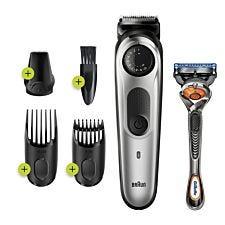 Braun BT5260 Beard Trimmer & Hair Clipper for Men – Black & Silver