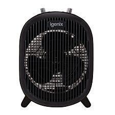 2Kw Upright Fan Heater - Black