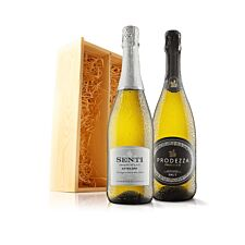 Virgin Wines Prosecco Duo in Wooden Gift Box