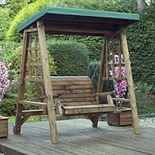 Charles Taylor Dorset 2 Seat Swing with Green Roof Cover