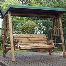 Charles Taylor Dorset 3 Seat Swing with Green Roof Cover