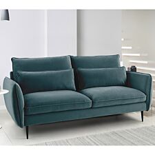 Rhonda 3 Seater Sofa - Malta Peacock Teal