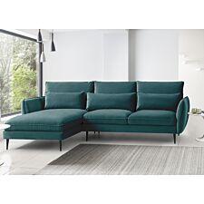 Rhonda Corner Chaise Sofa - Malta Peacock Teal