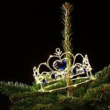 Noma 70 Warm White LED Queens Crown Christmas Tree Topper