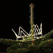 Noma 70 Warm White LED Kings Crown Christmas Tree Topper