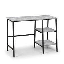 Julian Bowen Staten Desk - Concrete Grey & Black