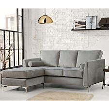 Milan Icon Corner Chaise Sofa Malta Grey