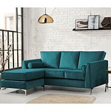 Milan Icon Corner Chaise Sofa Malta Peacock