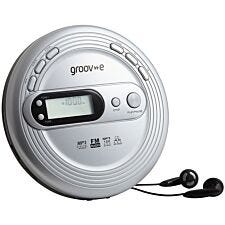 Groov-e Retro Series Personal CD Player with FM Radio - Silver
