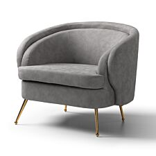 Claremont Accent Chair Space Grey Gold Legs