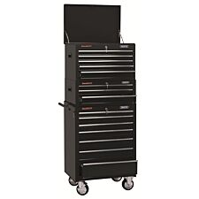 """Draper 26"""" Combined Roller Cabinet and Tool Chest (15 Drawer) - Black"""