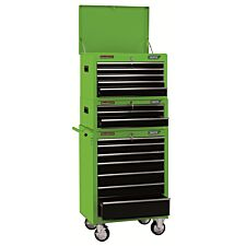 """Draper 26"""" Combination Roller Cabinet and Tool Chest (15 Drawer) - Green"""