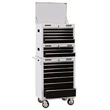 """Draper 26"""" Combined Roller Cabinet and Tool Chest (15 Drawer) - White"""