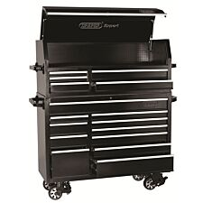 """Draper 56"""" Roller Tool Cabinet and Tool Chest (16 Drawer) - Black"""