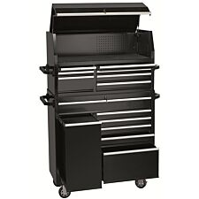 """Draper 42"""" Combined Roller Cabinet and Tool Chest (13 Drawer) - Black"""