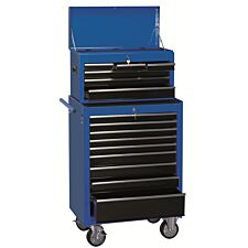 """Draper 26"""" Combination Roller Cabinet and Tool Chest (15 Drawers) - Blue"""
