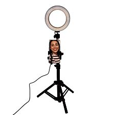 Fizz Creations Selfie Light Ring & Tripod Vlogging Stand - 16 cm