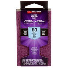 3M(TM) Pro Grade Precision(TM) Faster Sanding Block Sponge 80 Grit - Purple