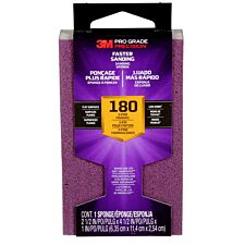 3M(TM) Pro Grade Precision(TM) Faster Sanding Block Sponge 180 Grit - Purple