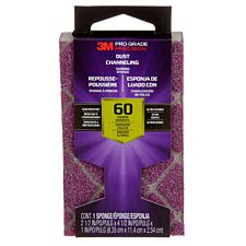 3M(TM) Pro Grade Precision(TM) Dust Channeling Block Sanding Sponge 60 Grit - Purple