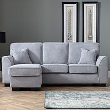 Zara Corner Chaise Sofa Dot Grey