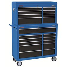 """Draper 40"""" Combined Roller Cabinet and Tool Chest (19 Drawer) - Blue"""
