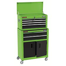 """Draper 24"""" Combined Roller Cabinet and Tool Chest (6 Drawer) - Green"""