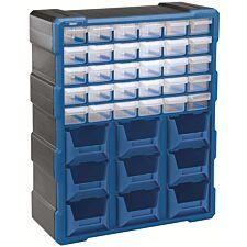Draper 30-Drawer 9-Bin Organiser - Blue