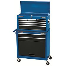 Draper Two Drawer Roller Cabinet and Six Drawer Chest - Blue