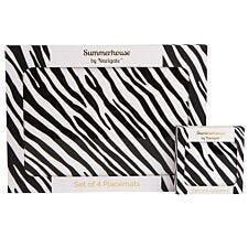 Madagascar Zebra Stripe Placemat & Coaster Set
