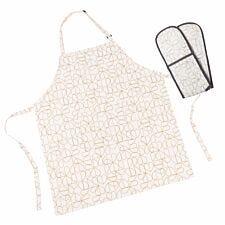 Beau & Elliot Champagne Edit Apron & Double Oven Gloves Set - Oyster