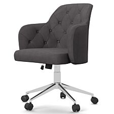 Solstice Tarquq Fabric Office Chair - Grey