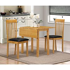 Atlas Drop Leaf Dining Set With 2 Chairs Natural