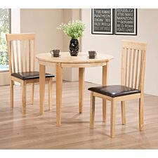 Lunar Dining Set with 2 Chairs Natural