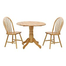 Madison Drop Leaf Dining Set with 2 Chairs