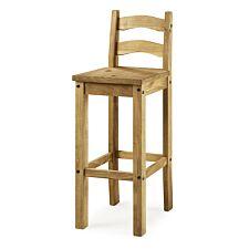 Set Of 2 Corona Pine Bar Chairs