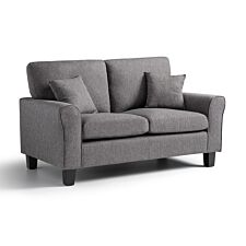 Amba 2 Seater Fabric Sofa Tweed Grey