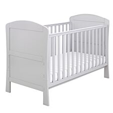 Babymore Aston Drop Side Cot Bed  Grey