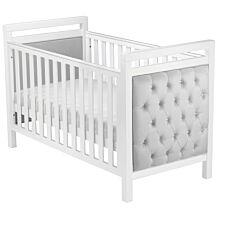 Babymore Velvet Deluxe Cot Bed White