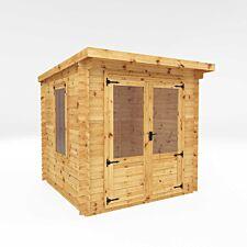 Mercia 2.4m x 2.4m Pent Log Cabin - 19mm