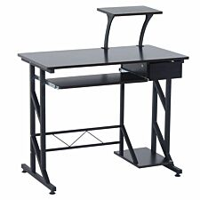 Zennor Space Saving Computer Desk - Black Walnut